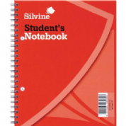 "Silvine 139 Student's Notebook Wire Bound Exercise Book 7x9"" 60 Leaves"
